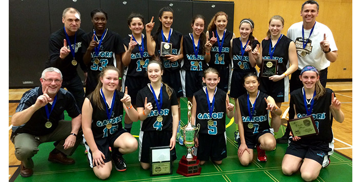2015 Gr. 8 BC Champions: Walnut Grove Gators